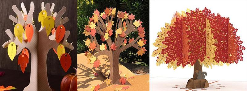 деревья из картона