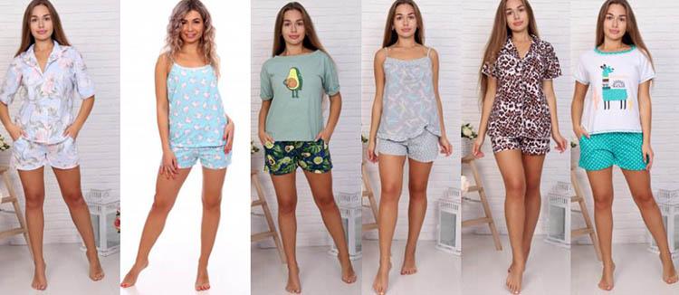 домашний трикотаж пижама с шортами 2021 фото