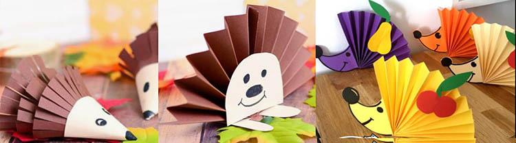 ежик картонный для детей поделки
