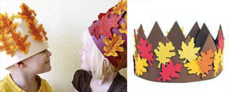 корона картонная с листьями