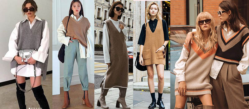 модные жилеты 2021 из трикотажа