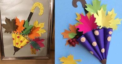 Осеннее творчество с детьми: клеим, рисуем, создаем. Фото осенних детских поделок