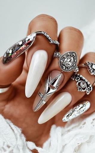 длинные ногти декор ногтей фото