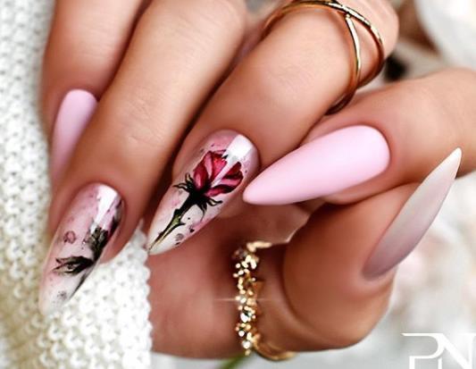 роза ногти фото стильного дизайна