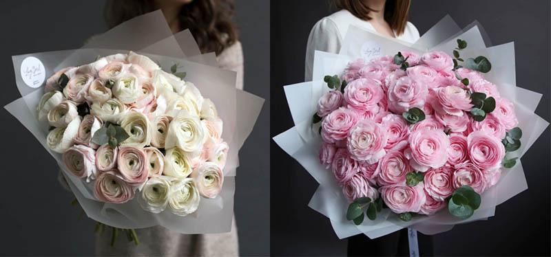 стильное оформление букетов цветов 2021 мода