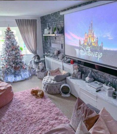 пудровый ковер напольный палас елка новогодний интерьер 2022 фото