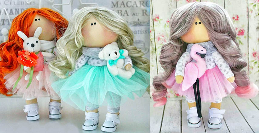текстильная кукла из ткани своими руками