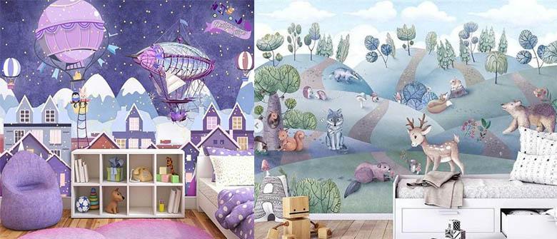 фотообои детская комната новинки сказочные картины