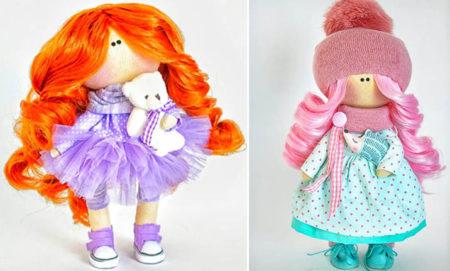 интерьерная кукла из ткани своими руками