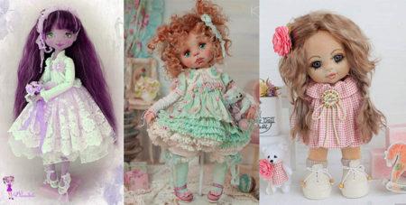 текстильная интерьерная кукла из ткани своими руками
