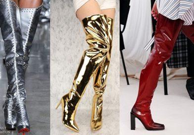 Модная обувь 2018 тенденции стильные ботфорты и сапоги фото